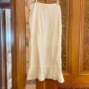 Juicy Couture White Tie Waist Maxi Skirt